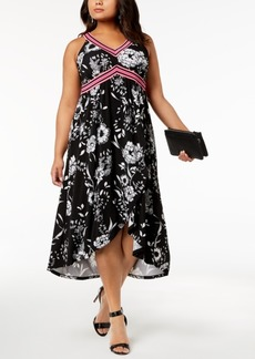 INC International Concepts I.n.c. Plus Size Printed Midi Dress, Created for Macy's