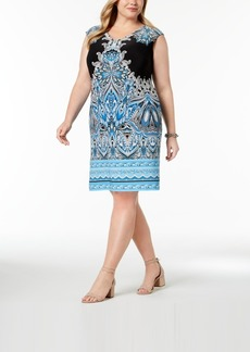 INC International Concepts I.n.c. Plus Size Printed Shift Dress, Created for Macy's