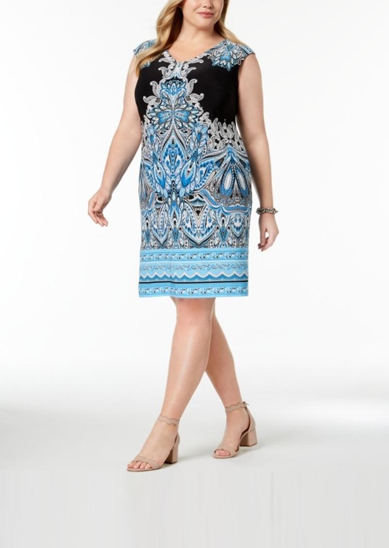 INC International Concepts I.n.c. Plus Size Printed Shift Dress ...