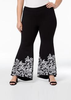 INC International Concepts I.n.c. Plus Size Printed Tulip Hem Pants, Created for Macy's