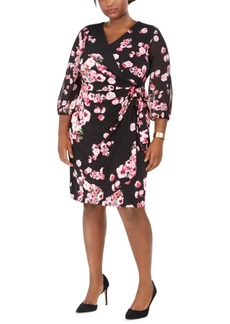 INC International Concepts Inc Plus Size Printed Wrap Dress, Created for Macy's