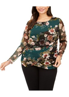 INC International Concepts Inc Plus Size Printed Wrap Top, Created For Macy's