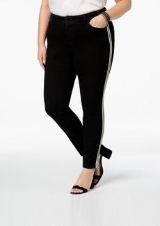 cc3caeddcf4 INC International Concepts I.n.c. Plus Size Racing-Stripe Skinny Jeans