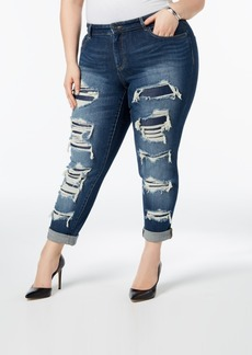 I.n.c. Plus Size Ripped Boyfriend Jeans, Created for Macy's