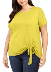 INC International Concepts Inc Plus Size Ruched Top, Created for Macy's