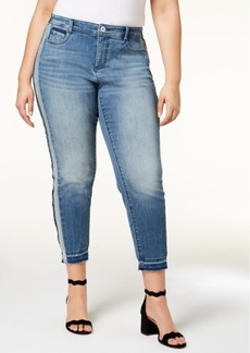 I.n.c. Plus Size Side-Stripe Skinny Jeans, Created for Macy's