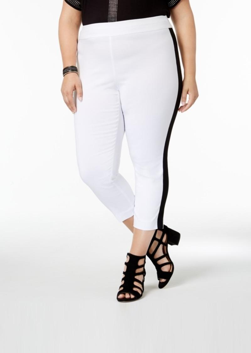 f42d3e7f692be INC International Concepts I.n.c. Plus Size Side-Stripe Skinny Pants ...