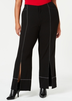 INC International Concepts I.n.c. Plus Size Slit-Front Pants, Created for Macy's