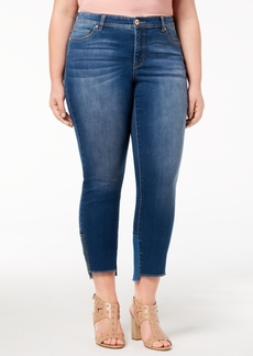 INC International Concepts I.n.c. Plus Size Skinny Step-Hem Jeans, Created for Macy's
