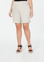 INC International Concepts Inc Plus Size Stretch Bermuda Shorts, Created for Macy's