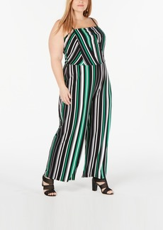 INC International Concepts Inc Plus Size Striped Jumpsuit, Created for Macy's