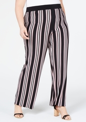 INC International Concepts I.n.c. Plus Size Striped Soft Pants, Created for Macy's