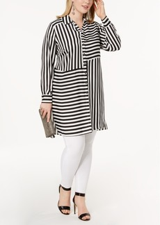 INC International Concepts I.n.c. Plus Size Striped Tunic, Created for Macy's
