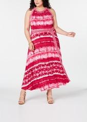 INC International Concepts Inc Plus Size Tie Dye Maxi Dress, Created for Macy's