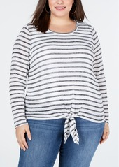 INC International Concepts I.n.c. Plus Size Tie-Front Sweater, Created for Macy's
