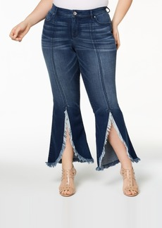 I.n.c. Plus Size Tulip-Hem Jeans, Created for Macy's