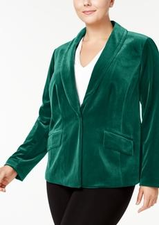 INC International Concepts I.n.c. Plus Size Velvet Blazer, Created for Macy's