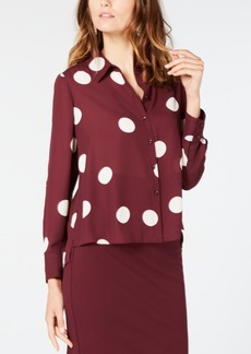 INC International Concepts Inc Polka-Dot High-Low Shirt, Created for Macy's