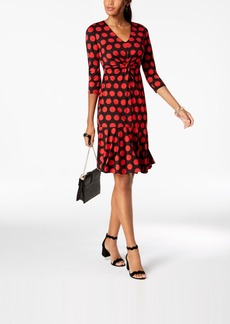 INC International Concepts I.n.c. Polka Dot Ruffled-Hem Dress, Created for Macy's