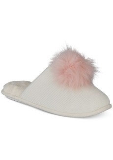 INC International Concepts I.n.c. Pom Pom Knit Slippers, Created for Macy's