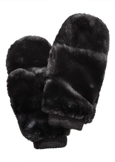INC International Concepts Inc Pop Top Faux Fur Mittens, Created For Macy's