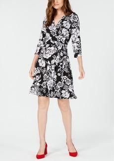 INC International Concepts I.n.c. Printed 3/4-Sleeve Wrap Dress, Created for Macy's