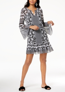 INC International Concepts I.n.c. Printed Bell-Sleeve Dress, Created for Macy's
