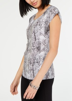 INC International Concepts I.n.c. Printed Chain-Front Top, Created for Macy's