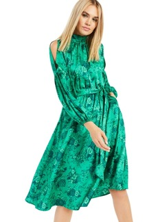 INC International Concepts Inc Printed Cold-Shoulder Scarf Dress, Created for Macy's