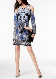 I.n.c. Petite Printed Cold-Shoulder Midi Dress, Created for Macy's