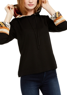 INC International Concepts Inc Printed-Cuff Hoodie, Created For Macy's