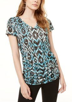 INC International Concepts Inc Printed Double-Layer Top, Created for Macy's