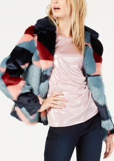 INC International Concepts I.n.c. Printed Faux-Fur Coat, Created for Macy's