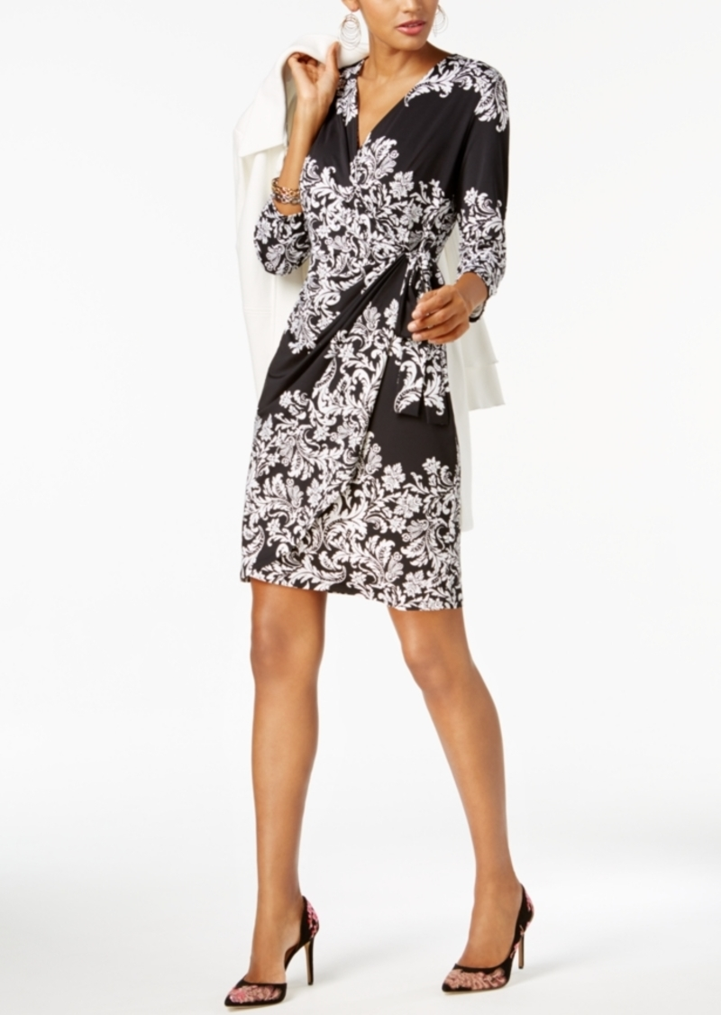 Inc International Concepts Inc Printed Faux Wrap Dress Created