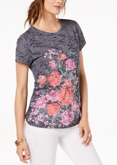 INC International Concepts I.n.c. Printed Floral-Graphic T-Shirt, Created for Macy's