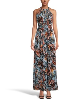 INC International Concepts Inc Printed Halter-Neck Maxi Dress, Created for Macy's