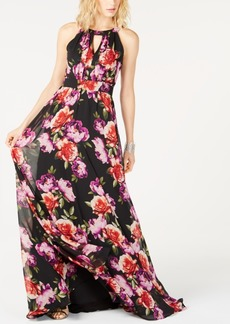 INC International Concepts I.n.c. Printed Halter-Neck Maxi Dress, Created for Macy's