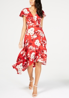 INC International Concepts I.n.c. Printed High-Low Wrap Dress, Created for Macy's