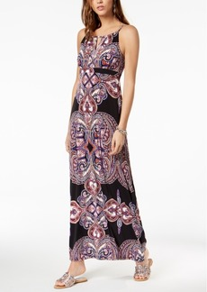 INC International Concepts I.n.c. Petite Beaded-Yoke Halter Maxi Dress, Created for Macy's