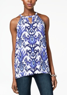 INC International Concepts I.n.c. Printed Keyhole Top, Created for Macy's