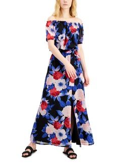 INC International Concepts Inc Printed Off-the-Shoulder Dress, Created for Macy's