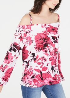 INC International Concepts Inc Printed Off-The-Shoulder Top, Created for Macy's