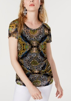 INC International Concepts I.n.c. Printed Paisley Ruched Top, Created for Macy's