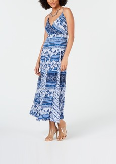 INC International Concepts Inc Printed Pleated Maxi Dress, Created for Macy's