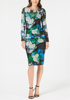 INC International Concepts I.n.c. Printed Ruched Midi Dress, Created for Macy's