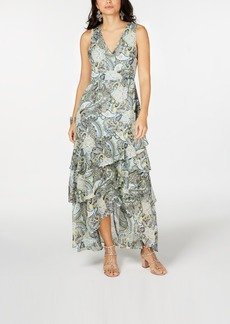INC International Concepts I.n.c. Printed Ruffled Maxi Dress, Created for Macy's