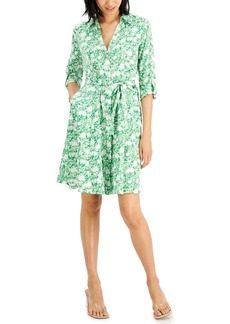 INC International Concepts Inc Printed Shirtdress, Created for Macy's