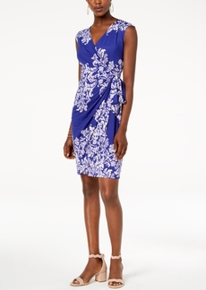 INC International Concepts I.n.c. Printed Side-Tie Wrap Dress, Created for Macy's
