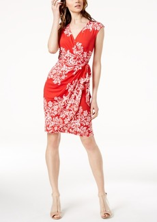 I.n.c. Petite Printed Faux-Wrap Dress, Created for Macy's