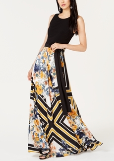 INC International Concepts I.n.c. Printed-Skirt Tie-Waist Dress, Created for Macy's